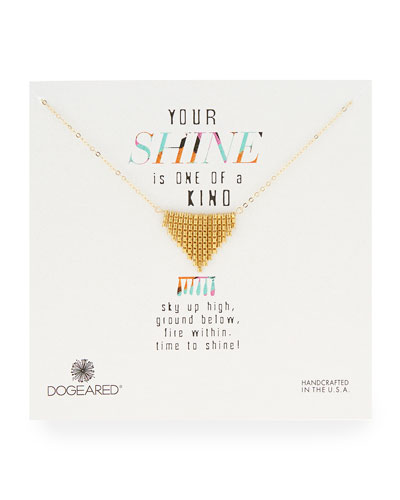 Gold-Dipped Small Fringe Chevron Necklace