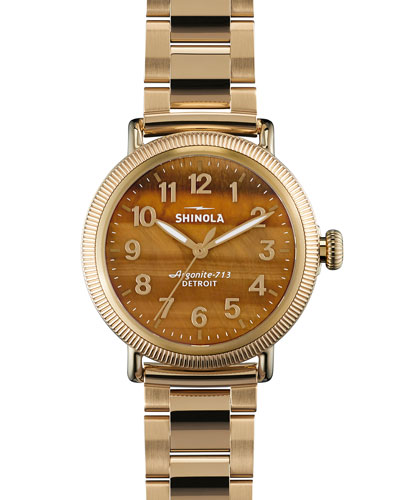 Runwell Golden Bracelet Strap Watch, 38mm