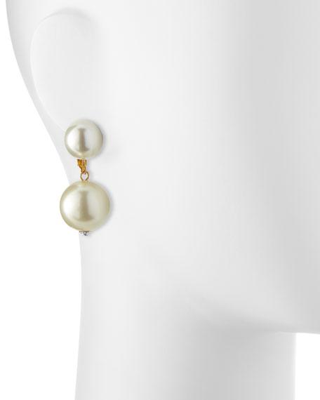 Double Pearly Drop Earrings