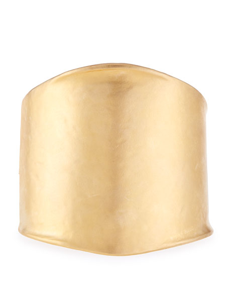 Kenneth Jay Lane Satin-Finish Golden Hinge Cuff