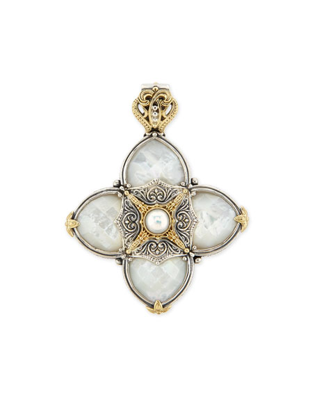 Silver & 18k Gold Mother-of-Pearl Pendant