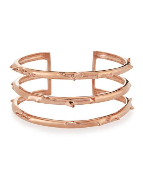 Katie Design Jewelry Rose Gold Vermeil Trinity Thorn Cuff