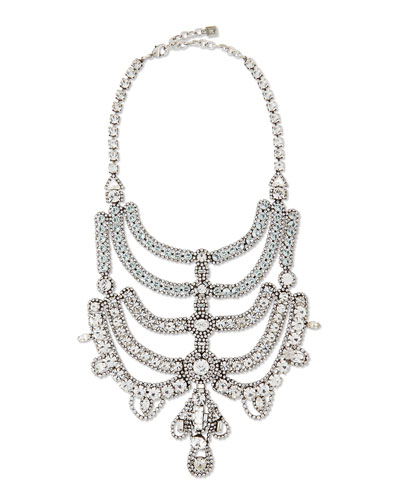 Margaux Crystal Bib Necklace