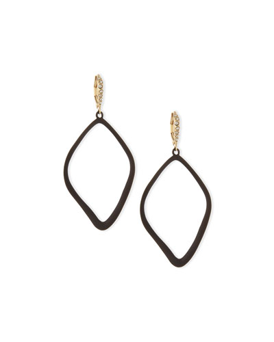 Miss Havisham Single Orbit Drop Earrings