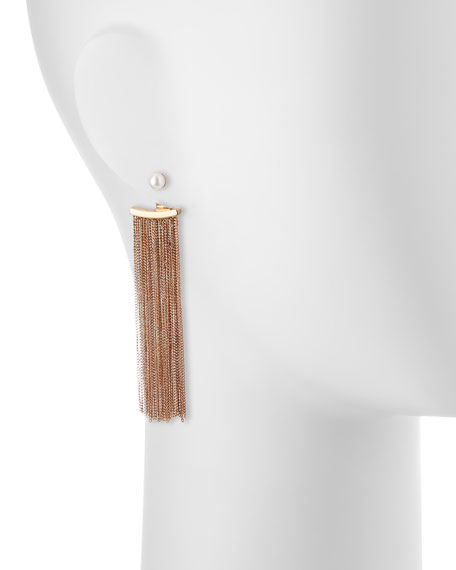 Bianca Pearl Fringe Earrings