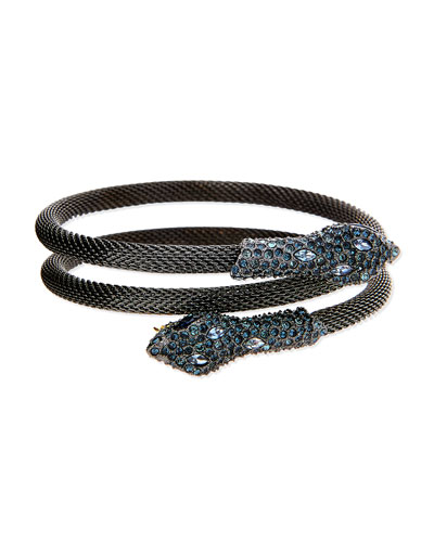 Elements Crystal Serpent Wrap Bangle