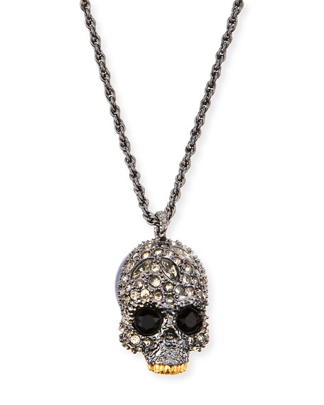 Elements Crystal Skull Pendant Necklace