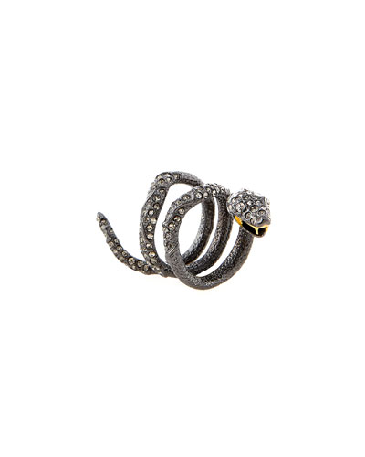 Wrapped Serpent Cocktail Ring, Size 6