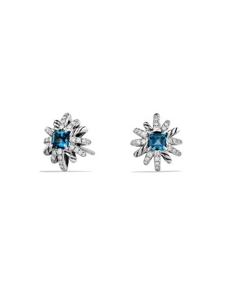David Yurman 12mm Starburst Diamond & Blue Topaz