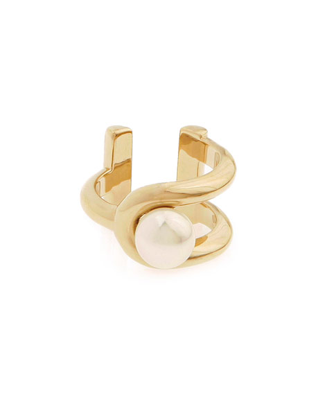 Jason Wu Gold-Plated Pearly Ring