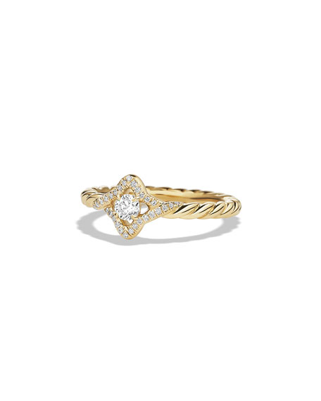 5mm Venetian Quatrefoil Diamond Ring, Size 6