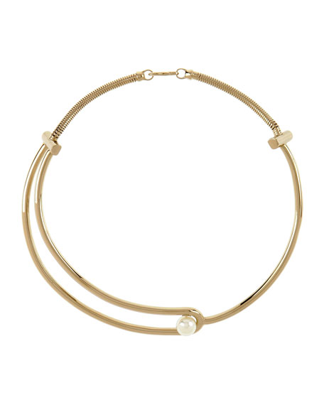 Jason Wu Gold-Plated Pearly Collar Necklace