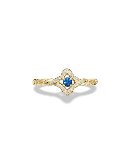 5mm Venetian Quatrefoil Blue Sapphire Ring, Size 6