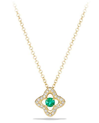 5mm Venetian Quatrefoil Emerald Necklace