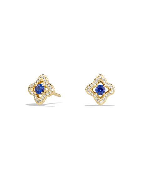 David Yurman Venetian Quatrefoil Blue Sapphire Earrings