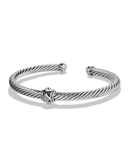 David Yurman 5mm Renaissance Diamond Station Bracelet