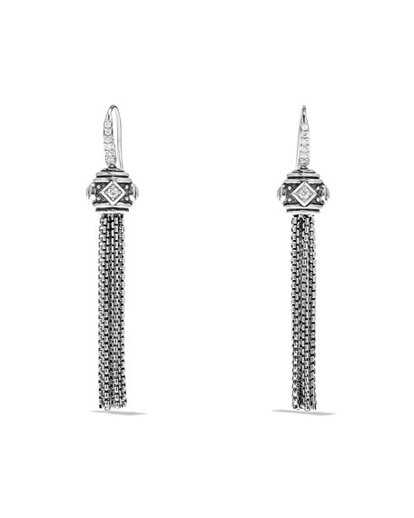 David Yurman Renaissance Pave Diamond Tassel Earrings
