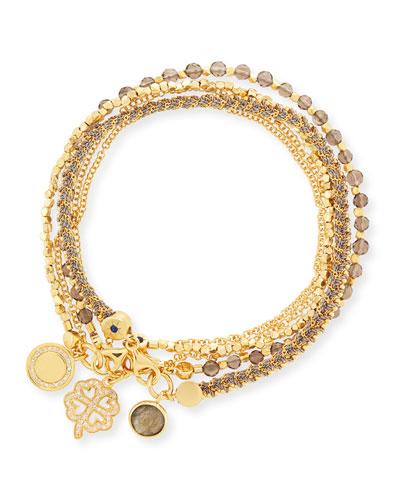 Golden Opportunities Charm Bracelets, Set of 3