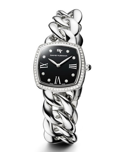 Albion 27mm Stainless Steel Curb Chain Watch