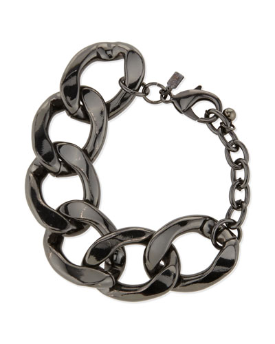 Polished Gunmetal Link Bracelet