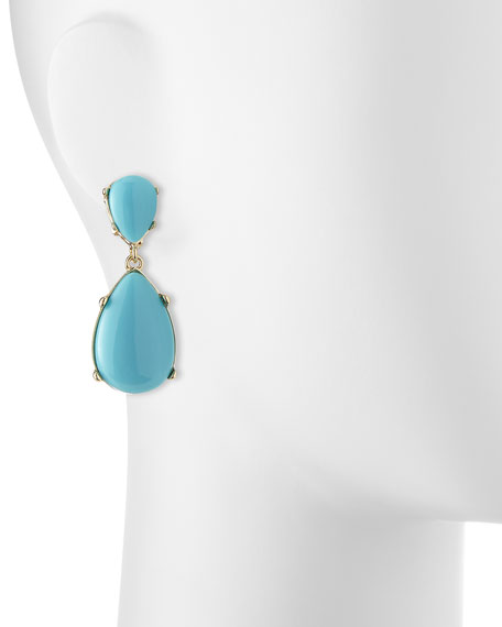 Turquoise-Colored Drop Earrings