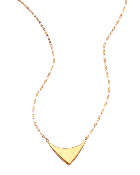 Lana 14k Elite Reflector Triangle Pendant Necklace