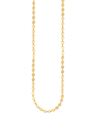 14k Elite Mirror Disc Chain Necklace, 36""