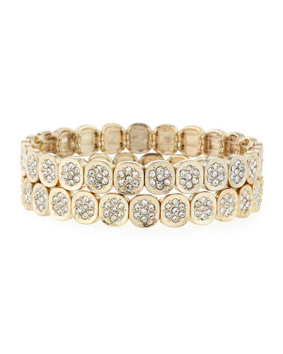 Pavé Stretch Bracelet Set