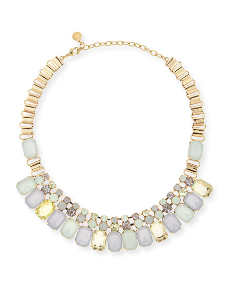 station d glow show necklace j neck goldtone rj r graziano y products drop oval