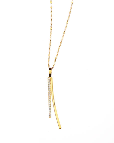 Lana 14k Electric Bar Diamond Reflector Necklace
