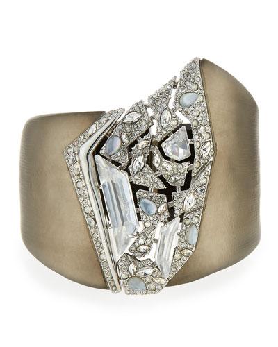 Shattered Crystal Hinge Lucite Bracelet
