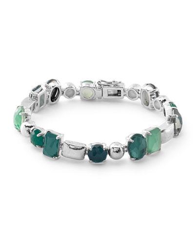 Rock Candy Wonderland 5-Stone Mixed Shape Tennis Bracelet in Neptune