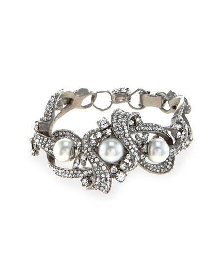 Jose & Maria Barrera Rhodium-Plated Chunky Bracelet