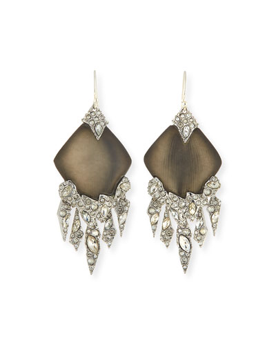 Shattered Crystal Chandelier Earrings