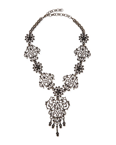 Lace Scroll Statement Necklace