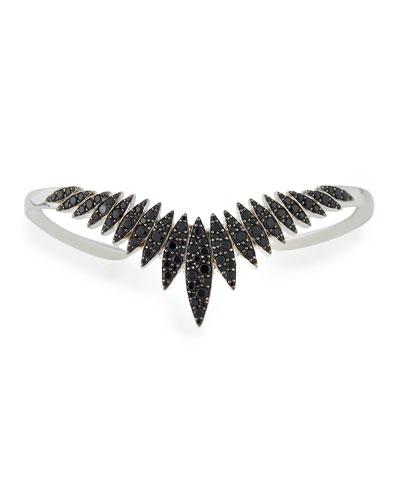 Marquis Black Spinel Burst Cuff Bracelet