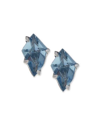 Midnight Quartz Kite Stud Earrings