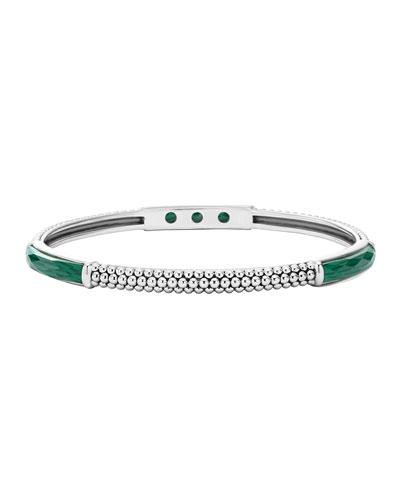 Maya Silver Thin Bangle Bracelet