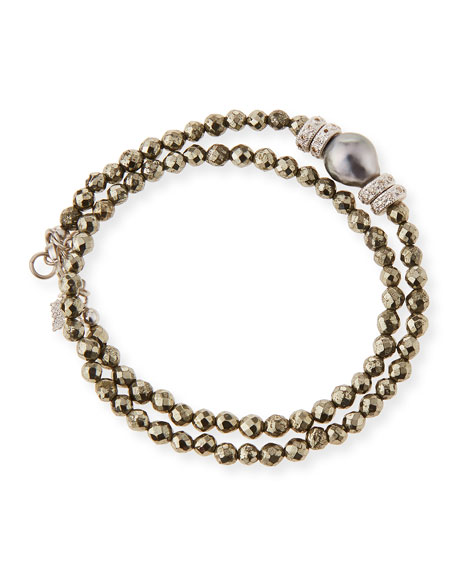 Armenta New World Tahitian Pearl & Diamond Wrap