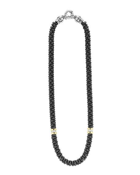 Black Caviar 2-Station Necklace
