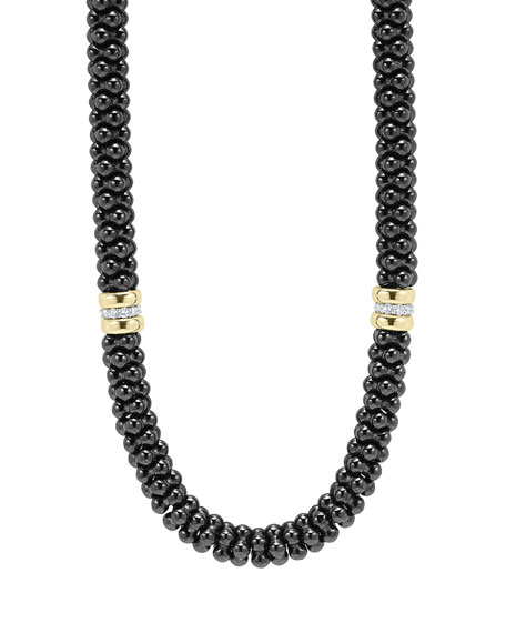 Black Caviar 2-Station Necklace