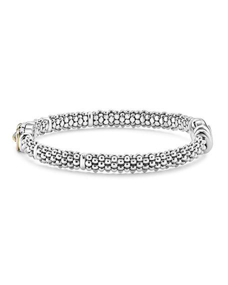 Pave Diamond Cushion Rope Bracelet, 6mm