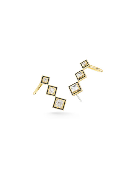 Elizabeth and James Dia Truitt Triple-Square Crawler Earrings