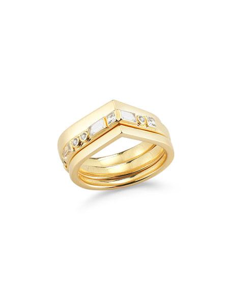 Elizabeth and James Dia Stella Stacked Teardrop Rings,
