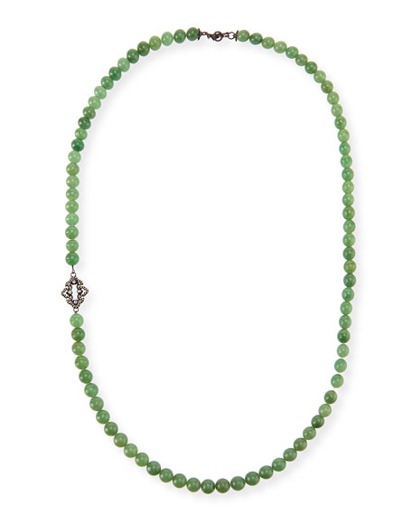 Armenta Old World Mossy Aventurine Bead Necklace, 36