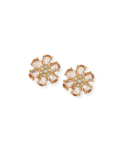 at first blush crystal stud earrings