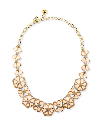 at first blush crystal bib necklace