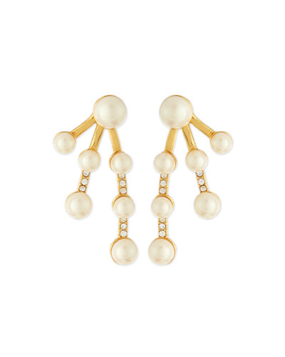 purely pearly jacket earrings