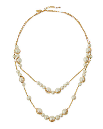 purely pearly two-strand necklace