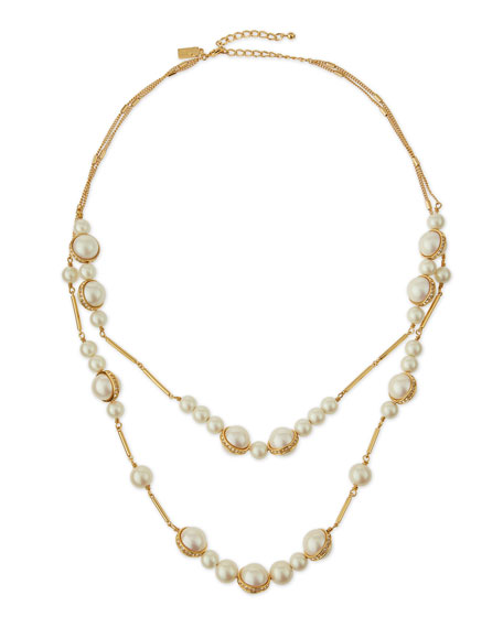 kate spade new york purely pearly two-strand necklace